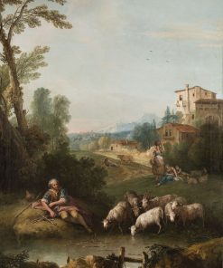 Landscape with Jacob Watering Laban's Flock   Francesco Zuccarelli   Oil Painting