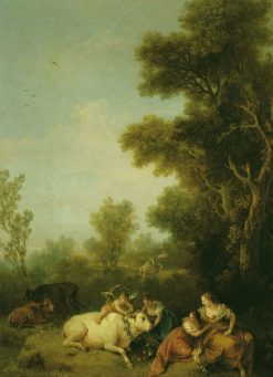 Landscape with Europa and the Bull   Francesco Zuccarelli   Oil Painting