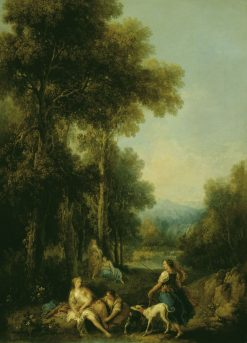 Landscape with Diana and the Chase   Francesco Zuccarelli   Oil Painting