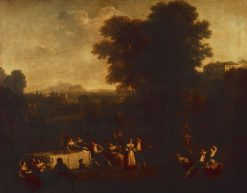 A Country Wedding - Feast | Francesco Zuccarelli | Oil Painting
