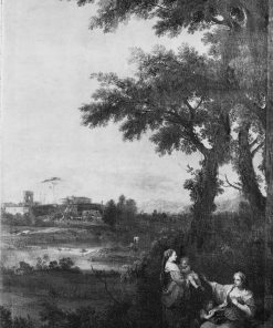 River Landscape with a Woman Giving another Woman a Child to Suckle | Francesco Zuccarelli | Oil Painting