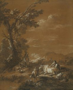 Landscape with Herdsmen and Shepherdesses   Francesco Zuccarelli   Oil Painting