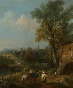 Landscape with a Wayside Tavern | Francesco Zuccarelli | Oil Painting