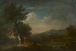 River Landscape with Apollo Pursuing Daphne | Francesco Zuccarelli | Oil Painting