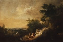 Landscape with Diana appearing to Endymion   Francesco Zuccarelli   Oil Painting