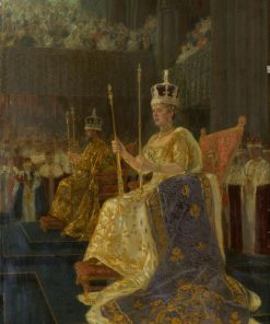 The Coronation of King George V: King George V and Queen Mary Enthroned | Laurits Tuxen | Oil Painting