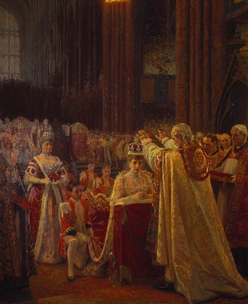 The Coronation of King Edward VII; the Crowning of Queen Alexandra | Laurits Tuxen | Oil Painting
