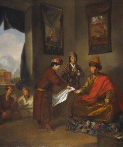The Teshu Lama (d 1780) Giving Audience | Tilly Kettle | Oil Painting