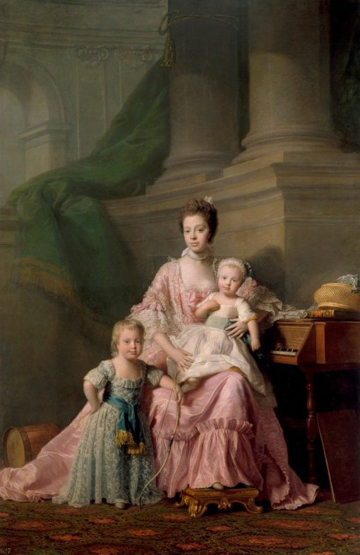Queen Charlotte (1744-1818) with Her Two Eldest Sons | Allan Ramsay | Oil Painting