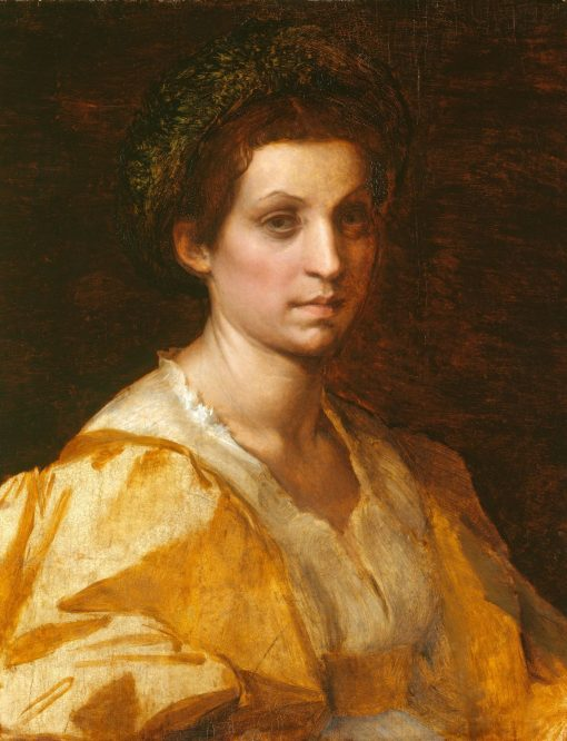 Portrait of a Woman in Yellow | Andrea del Sarto | Oil Painting