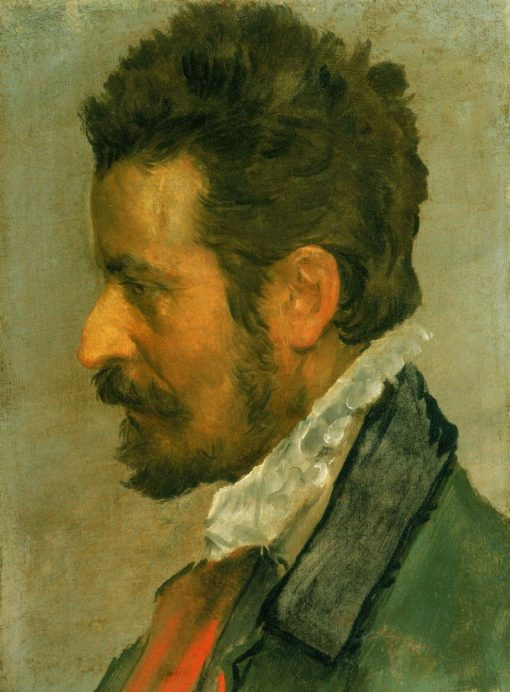 Head of a Man   Annibale Carracci   Oil Painting
