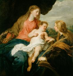 The Mystic Marriage of Saint Catherine | Anthony van Dyck | Oil Painting