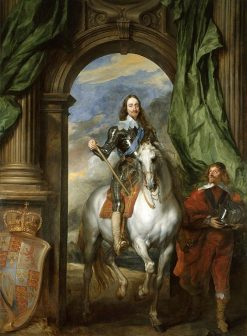 Charles I with Saint Antoine | Anthony van Dyck | Oil Painting