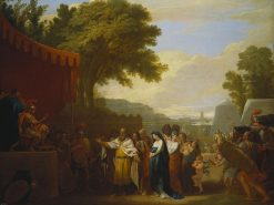 The Wife of Arminius Brought Captive to Germanicus | Benjamin West | Oil Painting