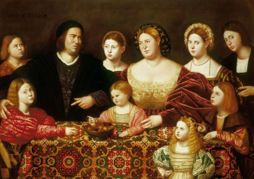 A Family Group   Bernardino Licinio   Oil Painting