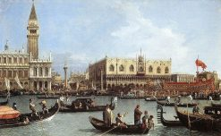 Venice: The Bacino di San Marco on Ascension Day | Canaletto | Oil Painting