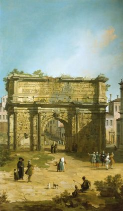 The Arch of Septimius Severus | Canaletto | Oil Painting