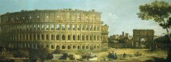 Rome: View of the Colosseum and the Arch of Constantine | Canaletto | Oil Painting