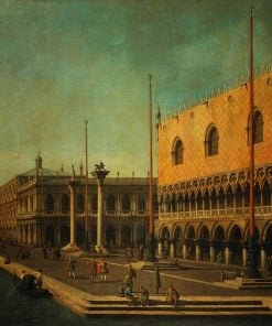 Caprice View of the Molo and the Doge's Palace | Canaletto | Oil Painting