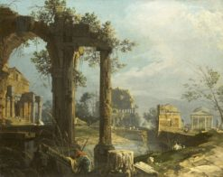 A Caprice: View with Ruins | Canaletto | Oil Painting