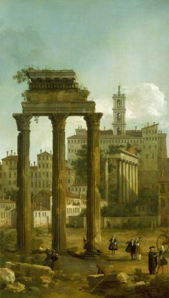 Rome: Ruins of the Forum looking Towards the Capitol | Canaletto | Oil Painting