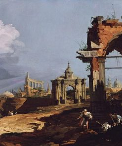 Venice: A Caprice View with a Pointed Arch | Canaletto | Oil Painting