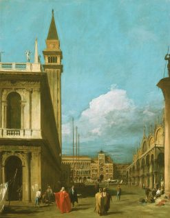Venice: The Piazzetta towards the Torre dell Olorogio | Canaletto | Oil Painting