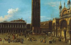 Venice: The Piazza from the Piazzetta with the Campanile and Side of S. Marco | Canaletto | Oil Painting