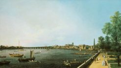London: The Thames from Somerset House Terrace towards Westminster | Canaletto | Oil Painting