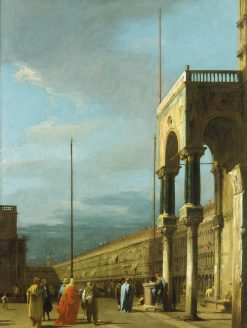 Venice: Piazza San Marco from a Corner of the Basilica | Canaletto | Oil Painting