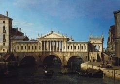 Venice: Caprice View with a Palladio Design for the Rialto | Canaletto | Oil Painting