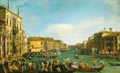 Venice: A Regatta on the Grand Canal | Canaletto | Oil Painting