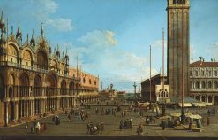 Venice: The Piazza and Piazzetta from the Torre dell Orologio towards S. Giorgio Maggiore | Canaletto | Oil Painting