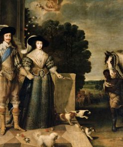 Charles I and Henrietta Maria Departing for the Chase | Daniel Mijtens | Oil Painting