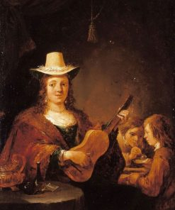 A Woman Playing the Guitar | David Teniers II | Oil Painting