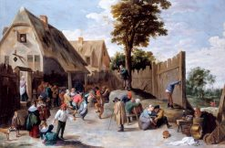 Peasants Dancing outside a Tavern | David Teniers II | Oil Painting