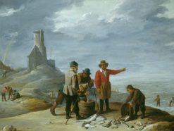 Fishermen on the Seashore | David Teniers II | Oil Painting