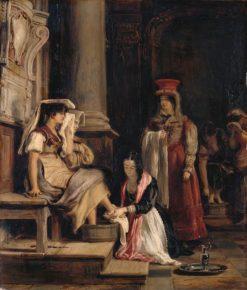 A Roman Princess Washing the Feet of Pilgrims | David Wilkie | Oil Painting