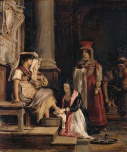 A Roman Princess Washing the Feet of Pilgrims | David Wilkie | Oil Painting
