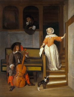 The Cello Player | Gabriel Metsu | Oil Painting
