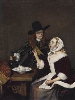 A Gentleman Pressing a Lady to Drink | Gerard ter Borch | Oil Painting