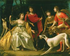 The Four Eldest Children of the King and Queen of Bohemia | Gerard van Honthorst | Oil Painting