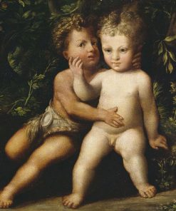 The Infant Christ and Saint John Embracing | Girolamo Mazzola Bedoli | Oil Painting