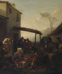 Italian Peasants outside a Tavern | Jan Miel | Oil Painting