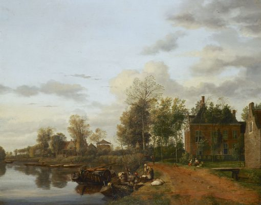 A Country House on the Vliet near Delft | Jan van der Heyden | Oil Painting