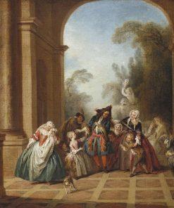Monsieur de Pourceaugnac | Jean Baptiste Pater | Oil Painting
