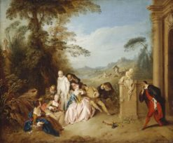 Fete Champetre with Italian Comedians | Jean Baptiste Pater | Oil Painting