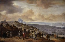 The Embarkation of Charles II at Scheveningen | Johannes Lingelbach | Oil Painting