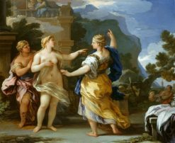 Venus Punishing Psyche with a Task | Luca Giordano | Oil Painting