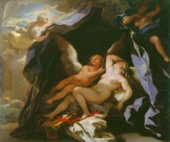 Cupid Visiting the Sleeping Psyche | Luca Giordano | Oil Painting